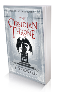 Cover image of The Obsidian Throne by James Oswald