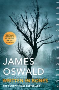 Cover image of Written in Bones by James Oswald